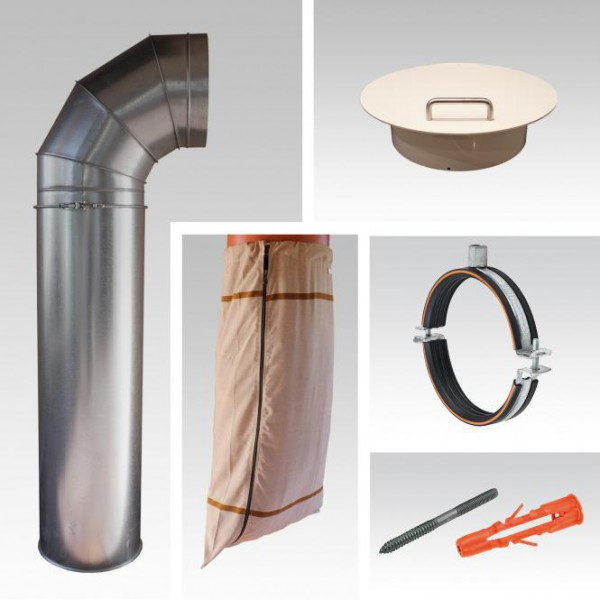 Wäscheabwurfschacht Komplettsystem | 1-fach Einwurf | Metall | Wäscheauffangsack